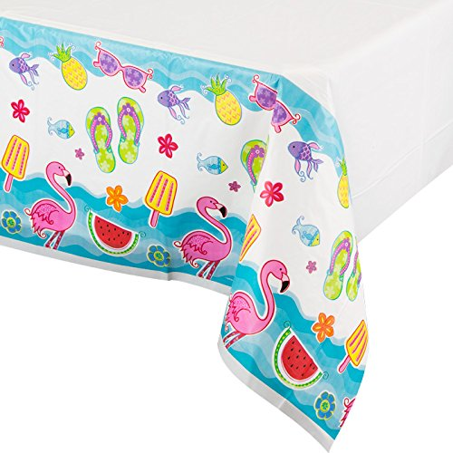 "Summer Fun Party Plastic Tablecover 54"" x 102"""