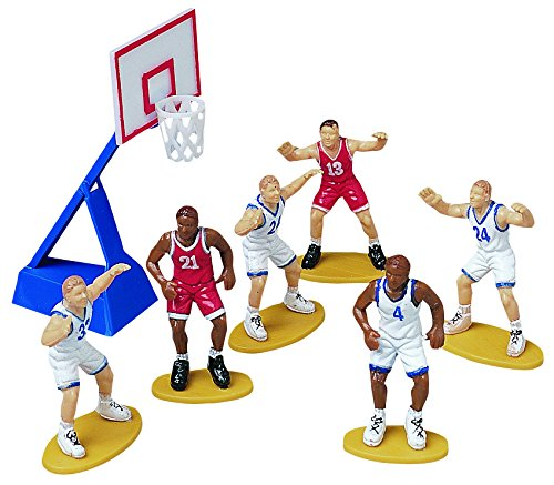 WILTON CUPCAKE AND CAKE TOPPER 7PC BASKETBALL CAKE DEC 2113-2237