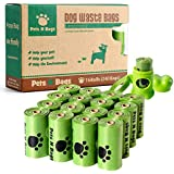 Poop Bags, ** Earth Friendly** Pets N Bags Dog Waste Bags, Refill Rolls (16 Rolls / 240 Count, Unscented) Includes Dispenser