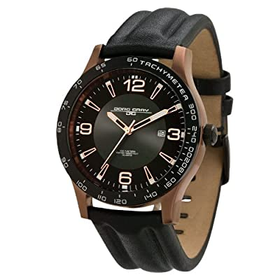 Jorg Gray JG2000-16 Men's Black Dial Leather Strap Watch