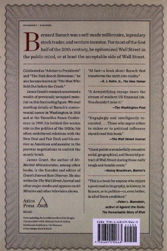 Bernard Baruch: The Adventures of a Wall Street Legend