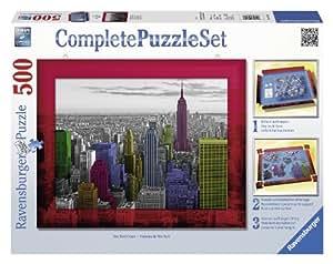 Ravensburger 14894 - New York Colours - 500 Teile Complete Puzzle Set
