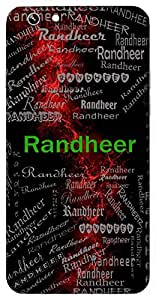 Randheer (One Who Shows Bravery & Boldness In War) Name & Sign Printed All over customize & Personalized!! Protective back cover for your Smart Phone : Moto G-4