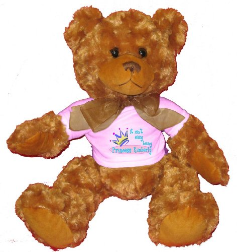 51h0S602iUL Buy  It isnt easy being princess Kimberly Plush Teddy Bear with WHITE T Shirt