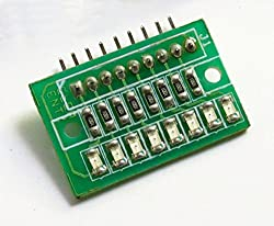 ELEMENTZ HIGH QUALITY 8 BIT SMD LED ARRAY (NO CONNECTOR CABLES included) for RASPBERRY PI ARDUINO AVR PIC 8051