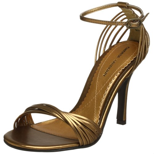 Chinese Laundry Women's Willy Dress Sandal,Shimmer Bronze,6.5 M US