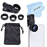 BTOOP 4 In 1 IPhone Lens Camera Lens Kit With Fisheye Lens + Wide Lens And Macro Lens + CPL Lens + BTOOP Microfiber...