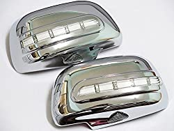 See Chrome Mirror Side Door LED Light Cover Indicator Fits Toyota Hilux Vigo Mk6 2005-2010 06 07 08 09 Details