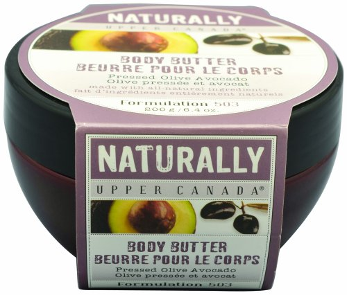 Upper Canada Soap & Candle  Pressed Olive Avocado Body Butter, 6.4-Ounces, (Pack of 2)