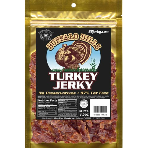 Buffalo Bills 3.5Oz Turkey Jerky Pack (Made With 100% Turkey Breast - Contains No Msg And No Nitrites)