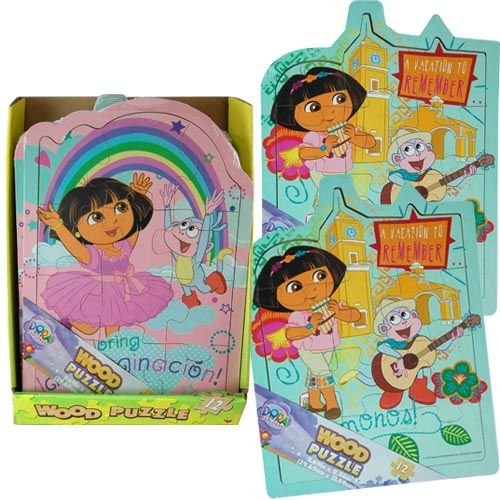 Dora the Explorer Shaped Wood Puzzle - Assorted Styles - 1