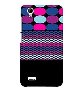 PrintVisa Chevron Dots Stripes Pattern 3D Hard Polycarbonate Designer Back Case Cover for VivoY31L