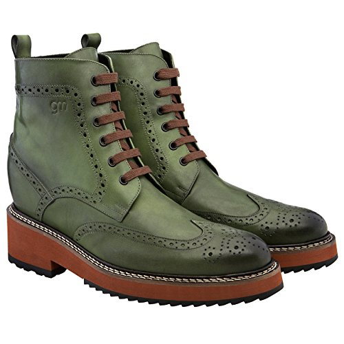 Guidomaggi Men s MELBOURNE 4 3 Height Increasing GREEN Leather Elevator  Shoes 37 99ba75180aa