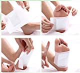 100 Pieces Kinoki Detox Foot Pads Patches with Adhesive