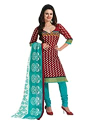 EQ Women Pure Cotton Brown Color Salwar Suit.