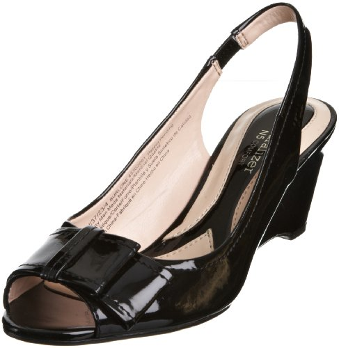 Naturalizer Women's Burlone Black Pat Slingback 45302 3 UK