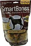 SmartBones Peanut Butter Dog Chew, Mini, 24-Pack
