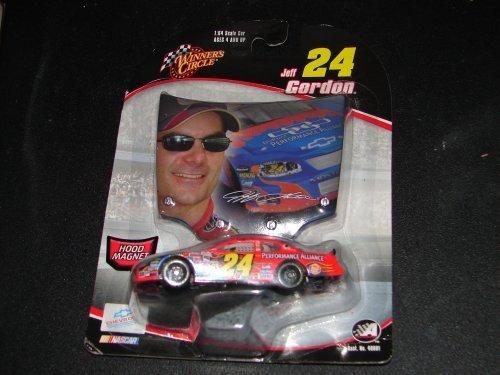 Jeff Gordon Hood Magnet and !/64 scale Die Cast NASCAR