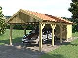 Carport Satteldach ZANDVOORT 350x800cm + Geräteraum...