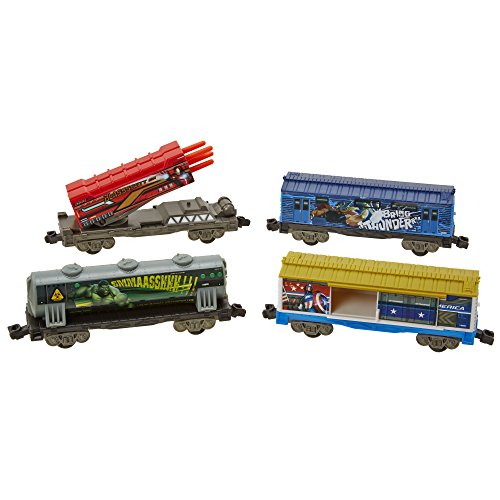 POWER CITY TRAINS Marvel Avengers Toy Train Cars (4-Pack) - 1