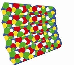 Ceiling Fan Designers 52SET-IMA-KBBD Kids Light Bright Dots 52 In. Ceiling Fan Blades Only