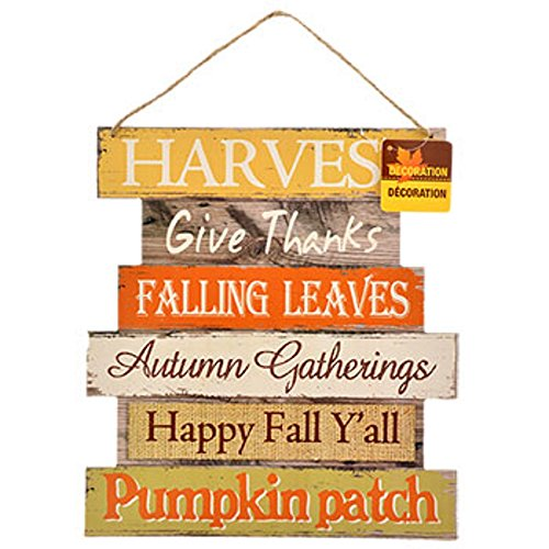 Hanging wooden autumn mobile second step
