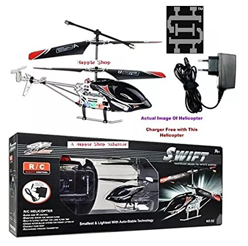 Happie Shop Remote Control Swift Ir Helicopter Swift Ir (Unbreakable Blades) Rechargeable Helicopter 2 Channels With Charger.
