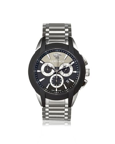 Versace Men's M8C99D008 S099 Character Silver/Black Stainless Steel Watch
