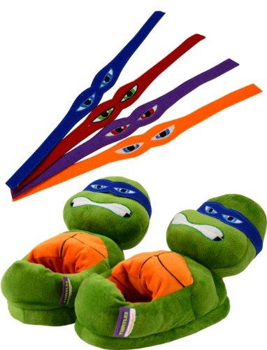 Scarpe casa Tartaruga Ninja - verde con 4 associare al design individuale- Taille 35-37