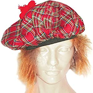 Adult Scottish Tam Costume Hat