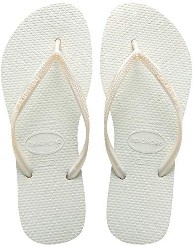 Havaianas Slim Women's Sandals, White, 8 UK