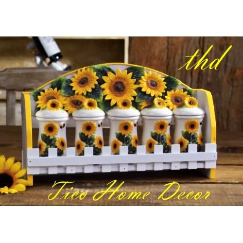Sunflowers kitchens kitchens decor dreams kitchens 5pc for Kitchen decoration image