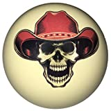 Cowboy Skull Cue Ball For Pool Players Custom By D&L Billiards