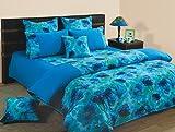 Swayam Printed Cotton Double Comforter - Turquoise (ACS 01-6715)