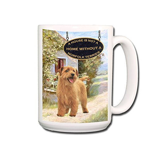 Norfolk Terrier A House Is Not A Home Coffee Tea Mug 15 Oz