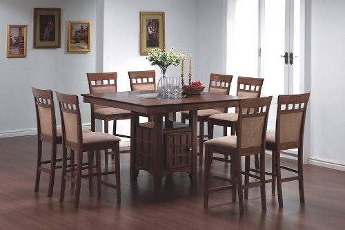 pc counter height dining table set chairs square kitchen tools hub