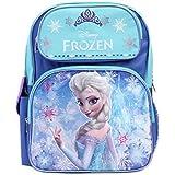 """Disney Frozen Princess Elsa Sparkle Backpack, Large 16"""" School Bag, New Licensed Design"""