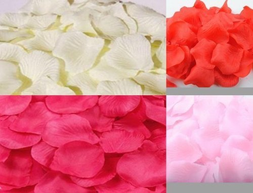 Directing well! Petals 4-color 1200 piece set red Pink Pink white flower shower wedding birthday Christmas party toy celebration ornament