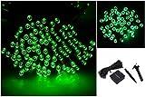 1Pc Massive Modern 200x LED Solar Power Nightlight Garden Lawn Xmas Props Waterproof Gift Colors Green