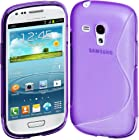 Cimo S-Line Back Case Flexible TPU Cover for Samsung Galaxy S III mini - Purple