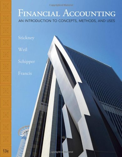 Financial Accounting: an introduction to concepts, methods, and uses, 13th Edition
