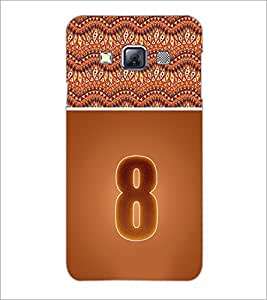 PrintDhaba Numerology Number 8 D-3640 Back Case Cover for SAMSUNG GALAXY A3 (Multi-Coloured)
