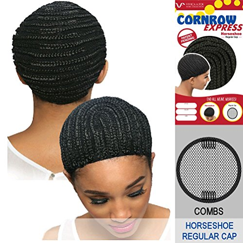 Vivica-A-Fox-CORNROW-EXPRESS-CAP-Horseshoe-with-Combs-Mesh-Weave-Cap