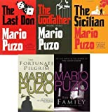 MARIO PUZO MARIO PUZO 5 BOOK SET COLLECTION THE FORTUNATE PILGRIM THE FAMILY THE SICILIAN THE GODFATHER THE LAST DON