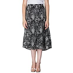 Instinct Women's Rayon Printed Skirts (AM640091BL_L, Multi-Coloured, Large)