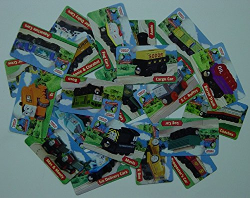 20 Character Collector Cards - Thomas Wooden Railway Train Tank Engine- Brand New Loose (Thomas Train Characters)