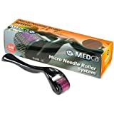 MEDca (540 Needles) Derma Micro Needle Roller Black Titanium for Wrinkles, Scar, Acne, Cellulite Treatment 1.5 Mm (More Effective Than Regular 192 Needle Derma Rollers)