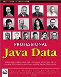 img - for Professional Java Data: RDBMS, JDBC, SQLJ, OODBMS, JNDI, LDAP, Servlets, JSP, WAP, XML, EJBs, CMP2.0, JDO, Transactions, Performance, Scalability, Object and Data Modeling by Bettis, Carl Calvert, Bogovich, Michael, Rhody, Sean, Wilcox (2001) Paperback book / textbook / text book