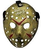 Ari Lehman Autographed Friday The 13th Replica Gold Mask Jason BAS