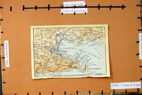 CITTÀ 1930 DI PIANIFICAZIONE DELLA VIA DELLA MAPPA SPEZIA ISOLA PALMARIA ITALIA